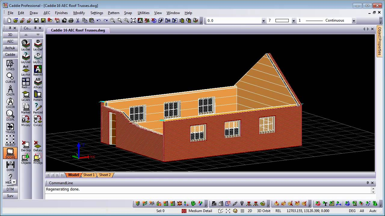 Aec roof trusses in caddie dwg architecture compatible for Garderobe 3d dwg