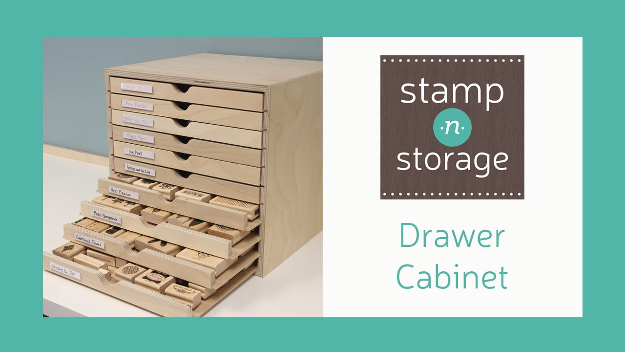 Favorite Stamp-n-Storage Drawer Cabinet - YouTube MV17