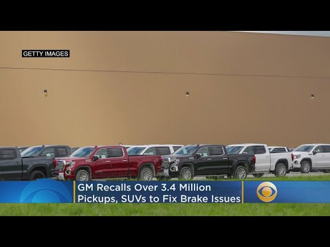 GM Recalls Over 3.4 Million Pickups, SUVs To Fix Brake Issues