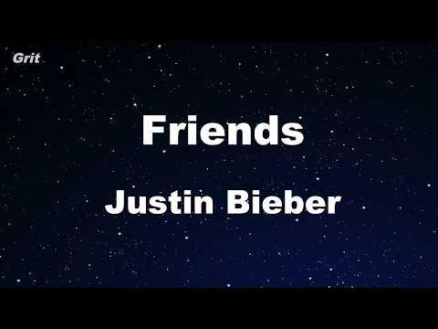 Friends ft. BloodPop - Justin Bieber Karaoke 【With Guide Melody】 Instrumental
