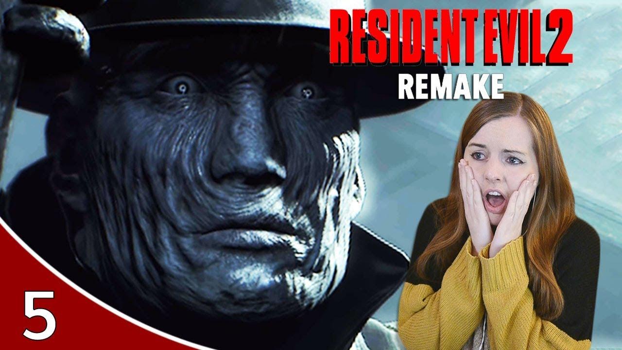Mr X Go Away Resident Evil 2 Remake Leon A Gameplay Walkthrough Part 5 Youtube