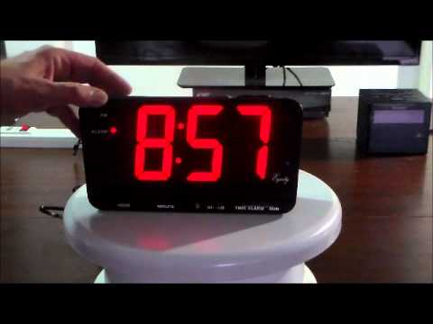 Equity By La Crosse Extra Large Display Electric Led Alarm Clock With 3 Inch Numerals Youtube