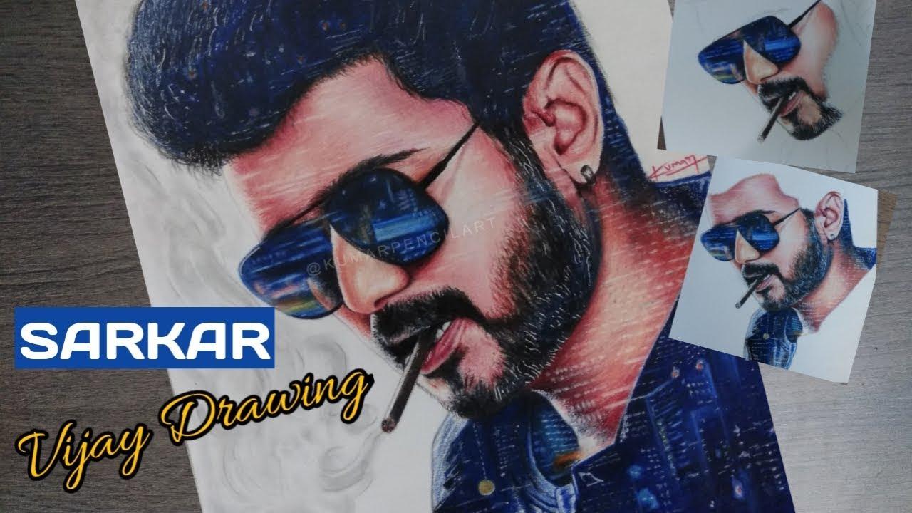 Vijay Drawing Images Hd