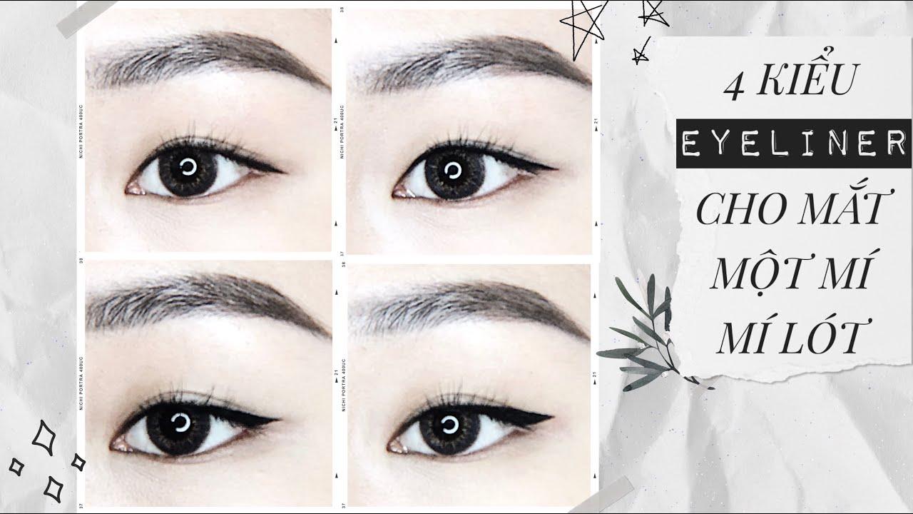Cách vẽ EYELINER cho mắt MỘT MÍ, MÍ LÓT   ASHLEY ✨