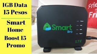 Smart Promo 15 Pesos 1GB Data - Smart Bro LTE Prepaid Home Wifi Review - Speedtest - Promos