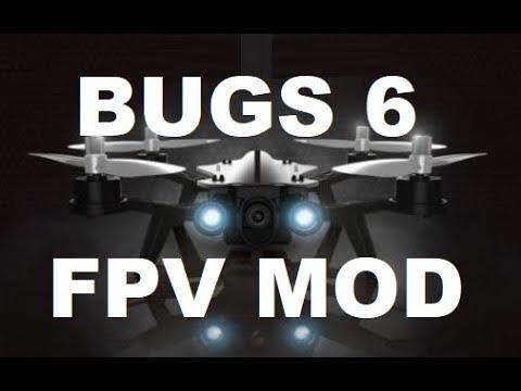 MJX BUGS 6 FPV 5.8 GHZ RANGE MOD DIY