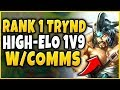 CHALLENGER  1V9 TRYNDAMERE STOMP W/ VOICE COMMS FT. WIGGLY - League of Legends