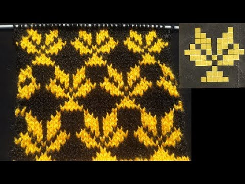 Beautiful Leaf Knitting Pattern With Graph Youtube