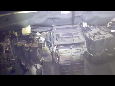 снятие торпеды киа рио 1 рестайлинг и снятие отопителя печки,замена радиатора печки