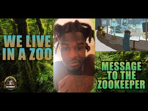 We  In A Zoo, Message To the Zookeeper With Reflection Natureboy