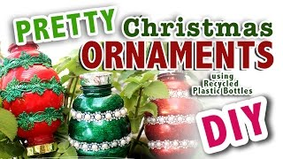 pretty christmas ornaments from recycled plastic bottles