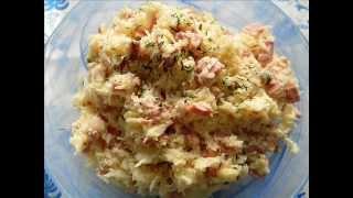 салат из свежей капусты и вареной колбасы