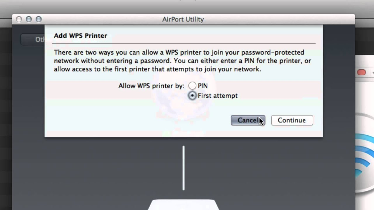 Easily connect a wps printer to apple airport extreme how to youtube fandeluxe Choice Image