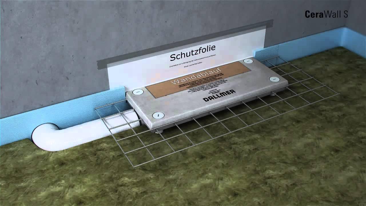 dallmer cerawall s hemzemin lineer du kanal uygulama youtube. Black Bedroom Furniture Sets. Home Design Ideas