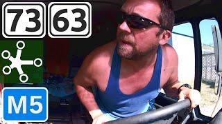 Горный тормоз, Автодория, бурлаки, движение с прицепом задним ходом, стройка на М5