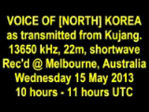 VOICE OF KOREA [NORTH] shortwave 15 May 2013