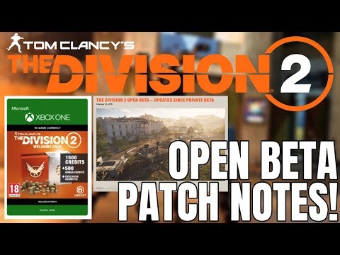 The Division 2 NEWS! OPEN BETA CHANGES & PATCH NOTES