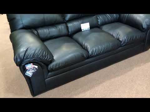 Simmons Upholstery 6152 Geneva Black Oversized Sofa & Loveseat