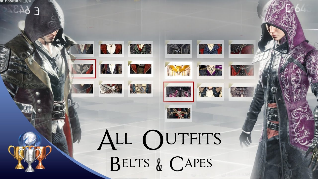 Assassin S Creed Syndicate Outfit Showcase All Outfits Belts