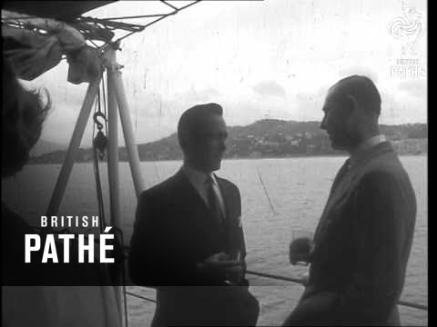 Cannes Film Festival British Gala On Board H.M. Birmingham (1957)