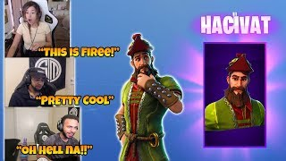Streamers REACT to *New* Hacivat Skin and Glider - Daequan, Hamlinz - Fortnite funny moments