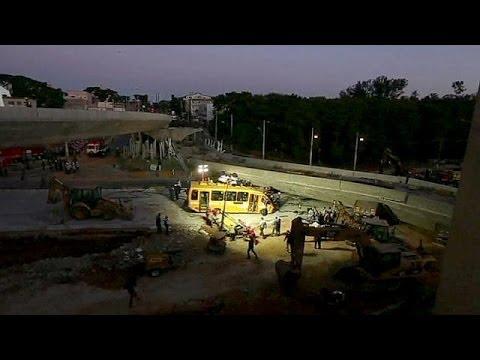 Bridge collapse kills two in World Cup city Belo Horizonte