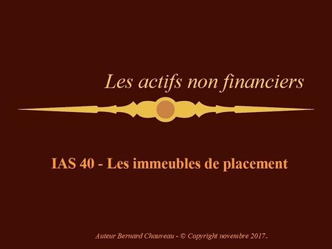 IAS 40 - IMMEUBLES DE PLACEMENT
