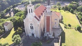 Drone et Notre Dame de Pipet - Vienne - Isère - France
