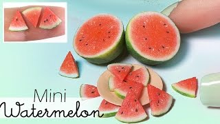 Simple Miniature Watermelon Tutorial // Dolls/Dollhouse DIY