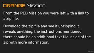 075 Orange Mission Overview