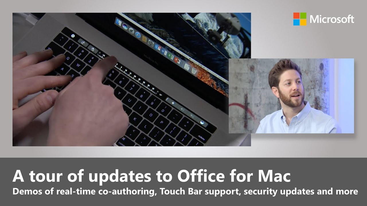 Office for Mac updates (2018) - real time co-auth, Touch Bar support and  more