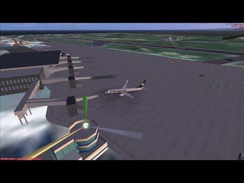 (FSX SE)  Ryanair PMDG 737| Catania LICC to Malta LMML  RYR2538  (Vatsim)
