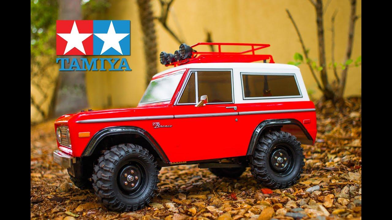 2016 Ford Bronco >> Tamiya CC-01 1973 Ford Bronco - Short Trail Run - YouTube