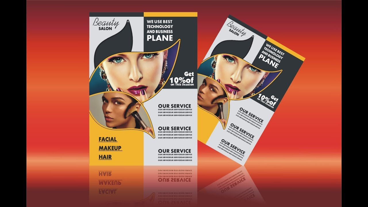 CorelDraw X6 Beauty Salon Flyer Design Tutorial By Ahsan Sabri