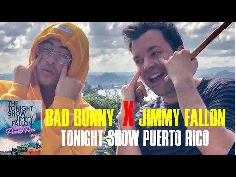 Bad Bunny con Jimmy Fallon en Puerto Rico 🇵🇷