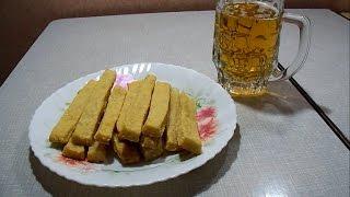 Быстрая закуска к пиву! Сырные палочки