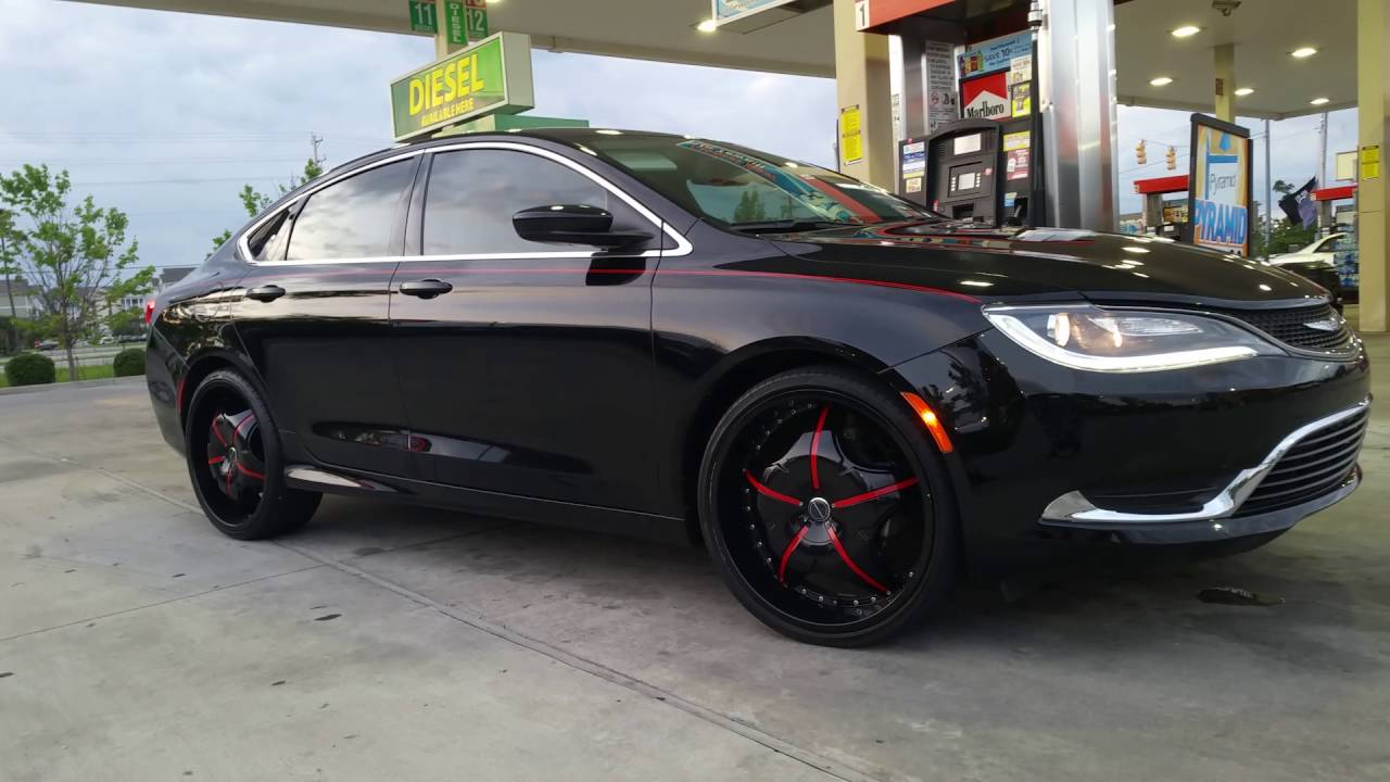 Chrysler 200 With 22 In Rims Youtube
