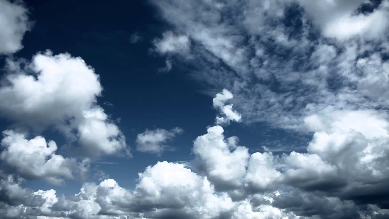 sky with clouds relaxing background youtube
