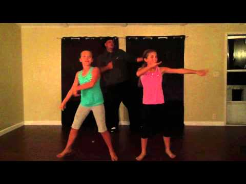 Dad surprises daughters & steals the show with watch me whip :)