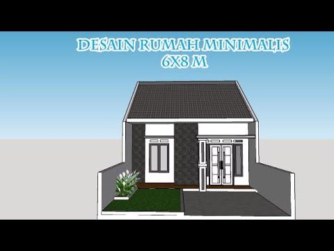 Referensi Desain Rumah Minimalis 6x8 M Terlihat Mewah Dan Elegant Youtube