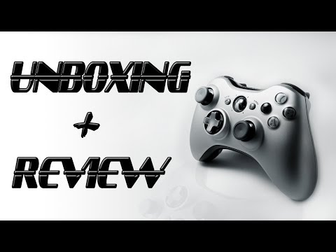 Unboxing Controle Xbox 360 Special Edition Silver
