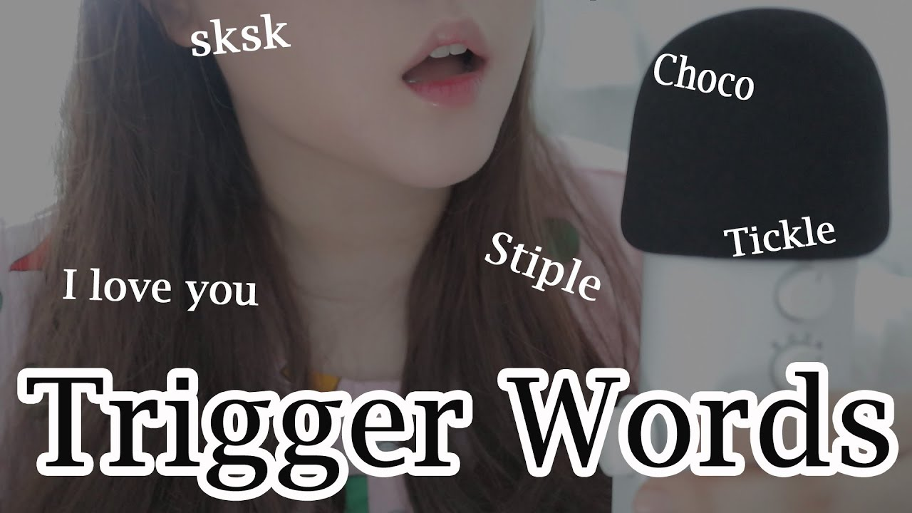 ASMR Trigger Words (Stiple,Sk,I love you) l 단어반복 (톡톡톡,팅글)