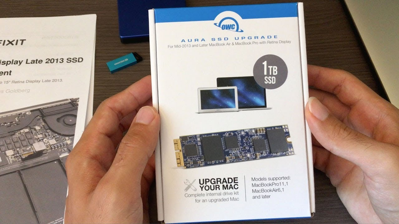 (unboxing) OWC Aura SSD Upgrade for MacBook Pro + (install)