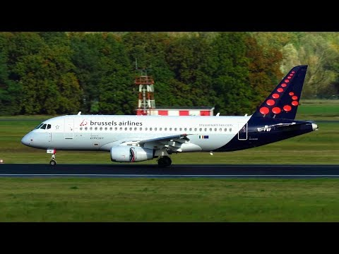 Brussels Airlines Sukhoi Superjet SSJ100 [EI-FWF] Landing at Berlin Tegel Airport TXL [Full HD]