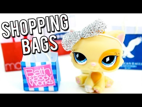 How to make DIY Shopping Bags l Miniature Crafts l LPS
