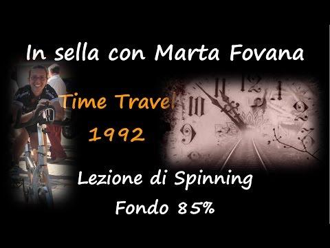 Lezione di spinning con Marta Fovana Fondo all'85% Time Travel 1992