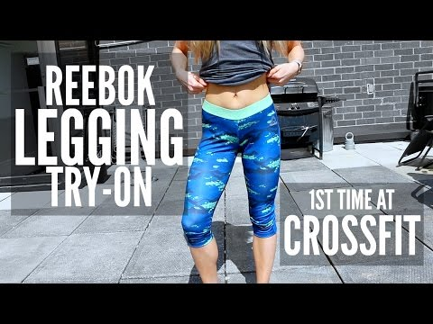 Reebok Legging Try-On & Review | FIRST TIME TRYING CROSSFIT
