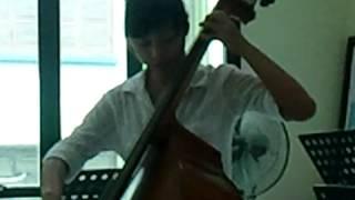 Bài thi cuối kỳ của học sinh sơ cấp khoa Dây, đàn contrabass. Trang1