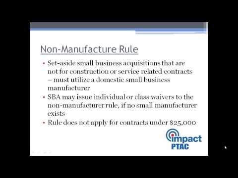 Basics of Government Contracting Part 1