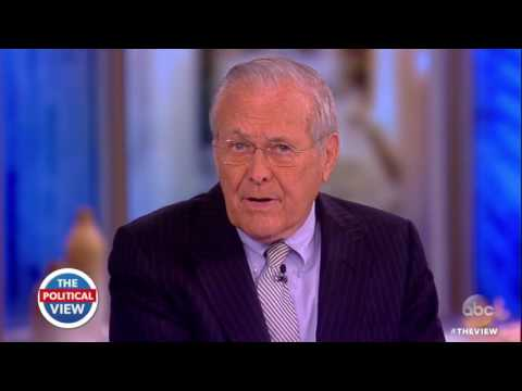 Donald Rumsfeld On Pres. Trump, Honoring Veterans & More